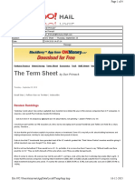 09-23-2010 Term Sheet - - Thursday, September 2323