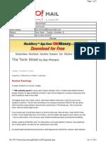 11-16-2010 Term Sheet -- Tuesday, November 1635