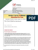 11-08-2010 Term Sheet -- Monday, November 842