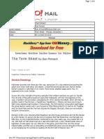 11-01-2010 Term Sheet -- Monday, November 148
