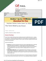 10-28-2010 Term Sheet -- Thursday, October 2862
