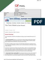 12-01-2010 Term Sheet -- Wednesday, December 165