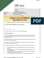 12-15-2010 Term Sheet -- Wednesday, December 1566