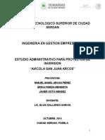 Estudio Administrativo Para Proyectos de Inversion