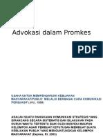 Advokasi dalam Promosi Kesehatan