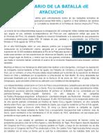 Aniversario de La Batalla de Ayacucho