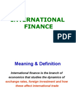 Introduction of International Finance