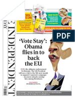 The Independent 13 March 2016