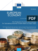 The Production Function Methodology for Calculating Potential Growth Rates
