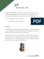 Ejercicios 002 – Pilas