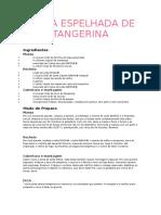 Torta Espelhada de Tangerina