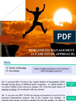 Risk and its Management (A Case Study Approach)