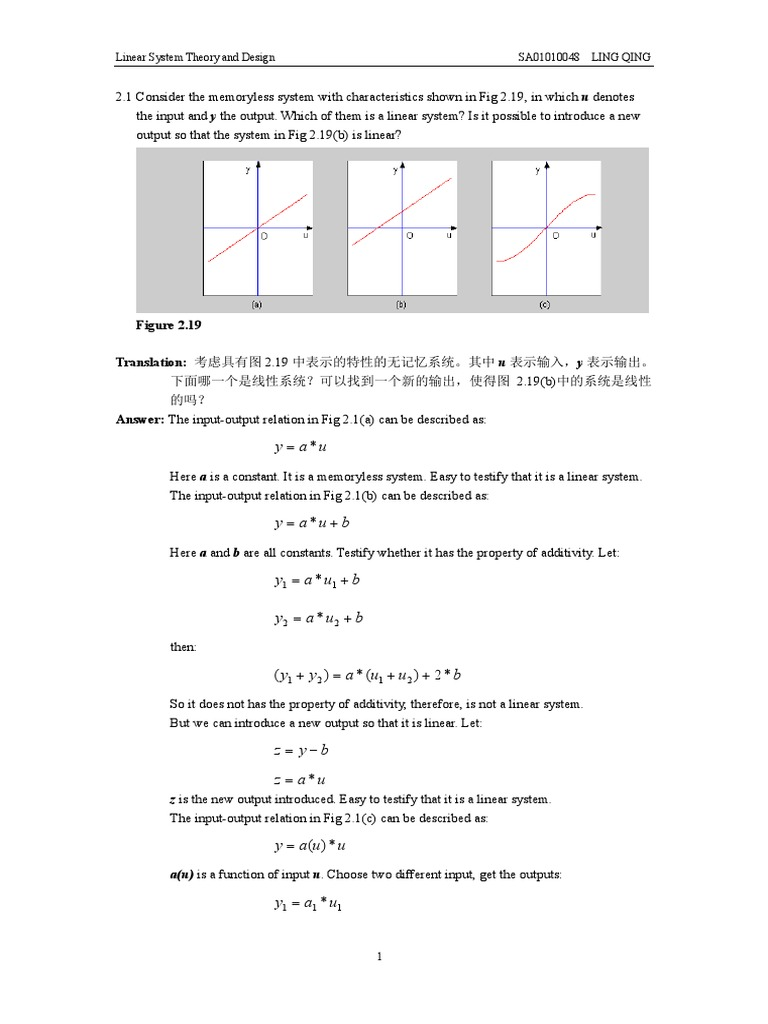 Solution of Linear System Theory and Design 3ed for Chi-Tsong Chen |  Eigenvalues And Eigenvectors | Numerical Analysis