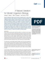 The Power of Natural Variation for Model Organism Bilogy Trends in Genetics 2016
