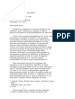 US Department of Justice Civil Rights Division - Letter - tal178