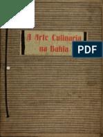 A Arte Culinária Na Bahia - Breves Apontamentos