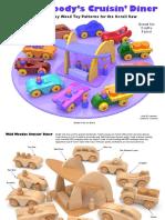 Wild Woody's Cruisin' Diner- juguetes en madera