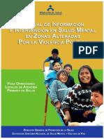 Manual de intervención en salud mental  en población  alterada por violencia politica