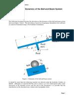 Ball and Beam Dynamics - Full Model