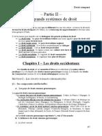Chapitre I – Les Droits Occidentaux (2)