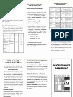 Inscripciones 2016 UCV