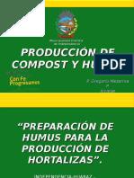 Diapositivas Alcalde de Independencia Gregorio Mezarina Sobre Produccion de Compost y Humus