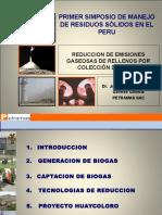 Reducción de Emisiones Gaseosas de Rellenos Por Colección de Gases