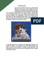 COMUNICADO en Defensa Del Animal