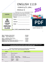 MODULE 1 SPM 2016- Introduction to 1119 ENGLISH & SECTION A QUESTIONS .doc