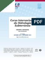 16º Curso Internacional de Hidrología Subterránea, versión a distancia