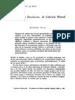 Elepiteto en Desolacion de Gabriela Mistral