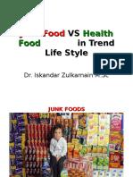Junk Food vs Health Food in Trend Life-dr.iskandar