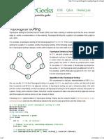 Topological Sorting - GeeksforGeeks