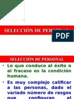 SELECCI+ôN DE PERSONAL - 2015