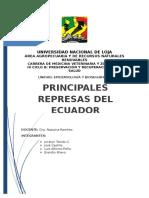 Principales Represas Del Ecuador