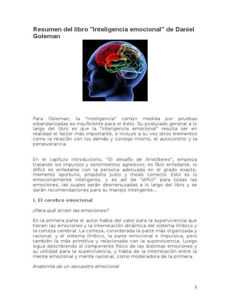 Resumen Del Libro-Inteligencia Emocional