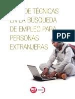 Guía de Técnicas en La Búsqueda de Empleo Para Personas Extranjeras
