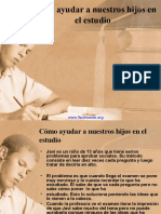 Cómo ayudar a nuestros hijos en el estudio
