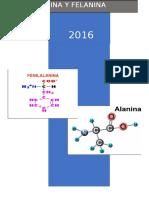 Alanina y Fenilalanina Informe