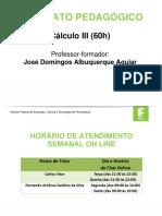 Contrato Pedagógico-Cálculo III - 2016