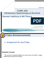 Zeeman Splitting and MO Theory Notes