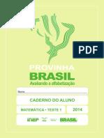 Provinha Brasil 1-2014 Caderno Aluno Matematica