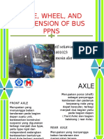 Axel, Wheel, And Suspension of Bus