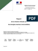 Reporte Energias Marinas 2013 Francia
