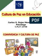 Cultura de Paz en Educación.
