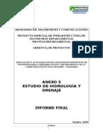 Estudio Hidrologico y Drenaje
