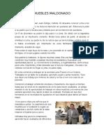 Muebles Maldonado Informe