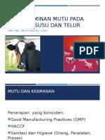 Hig Susu Telur Wk 10_Sistem Jaminan Mutu Pada Industri Susu Dan Telur