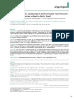 Estudo de Mutações Causadoras de Cardiomiopatia Hipertrófica Em Um Grupo de Pacientes No Espírito Santo,
