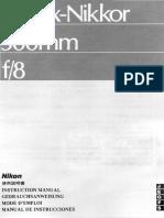 Reflex Nikkor 500mm f 8